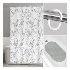 Hotel Balfour Premium Quality Fabric Shower Curtain White-Waffle Weave 100/% Cotton-72 X 72